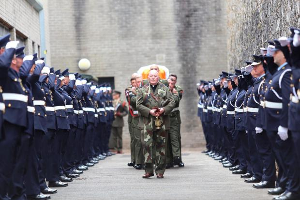 Ceremony for Thomas Kent at Cork Prison before his State funeral yesterday