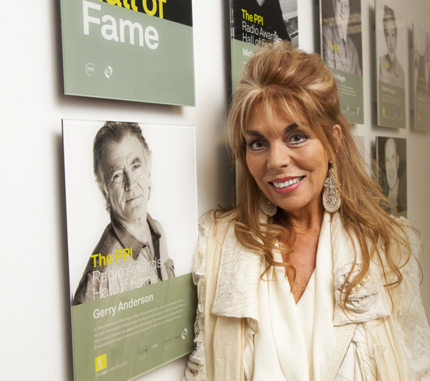 Gerry Anderson's wife Christine at the Hall of Fame awards in Dublin