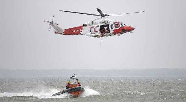 Coastguard members were involved in the rescue of a paraglider