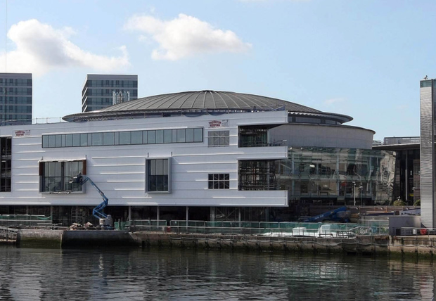 Under attack: the extension to Belfast's Waterfront Hall