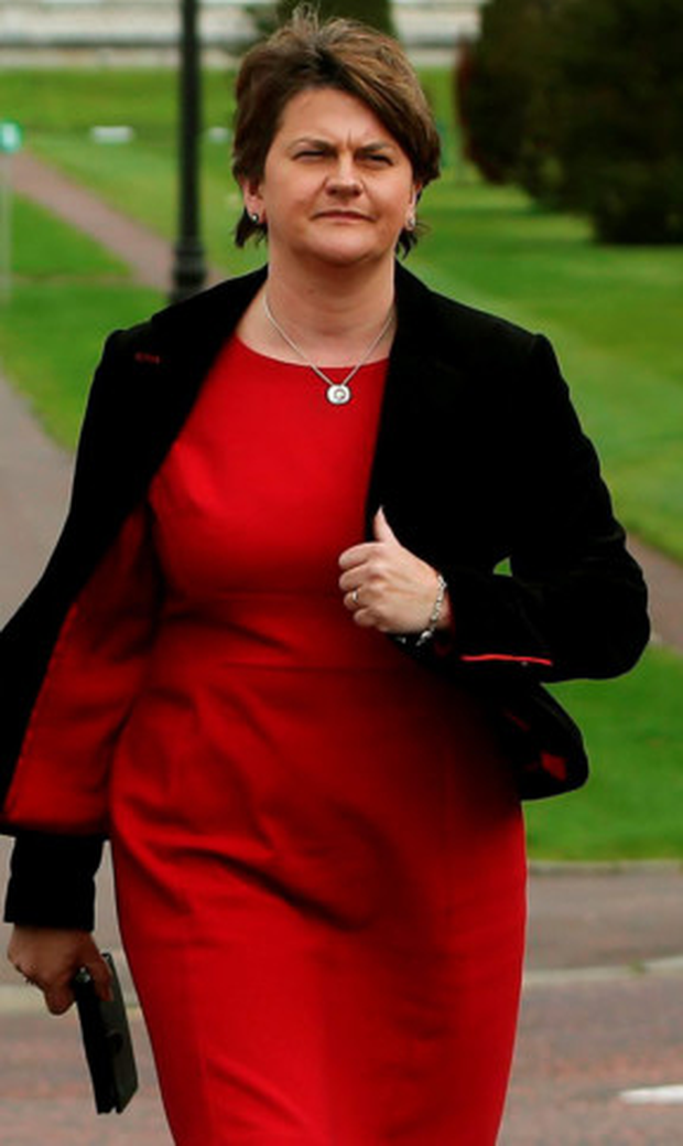 Plea: Arlene Foster yesterday