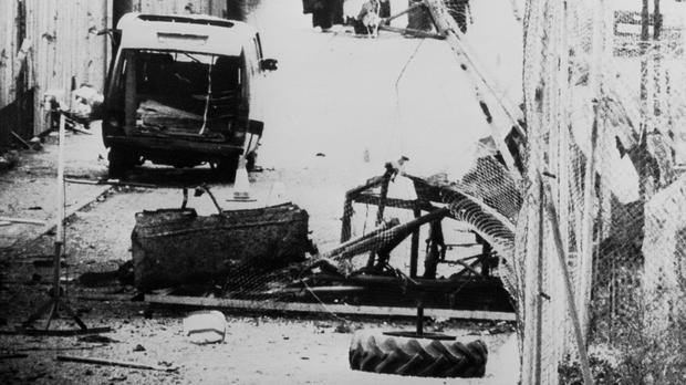 The scene of the shoot-out that claimed the lives of eight IRA men and a civilian