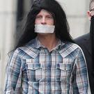The the court protest where Bryson showed up looking like Geronimo with his mouth duct-taped