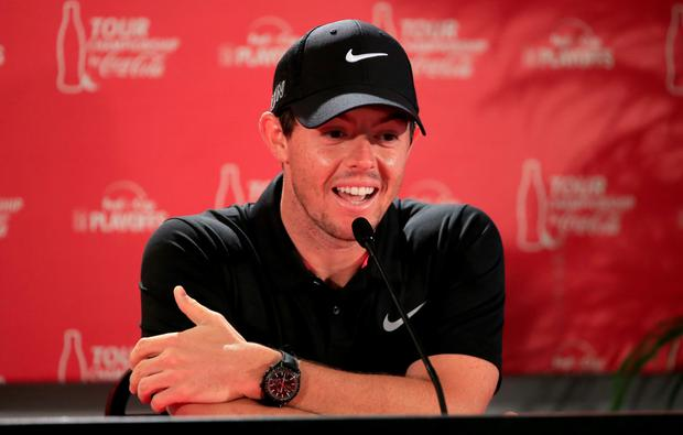 Timely reminder: Rory says the last occasion he checked his bank balance was to buy a watch