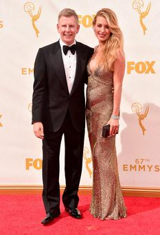 Ulster comedian Patrick Kielty and glamorous wife Cat Deeley attending the 67th Emmy Awards held in Los Angeles
