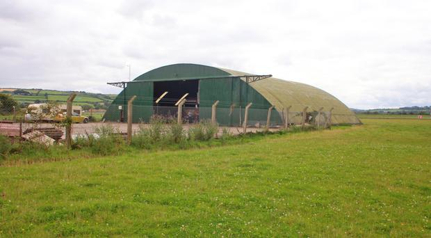 One of the hangars at Eglinton