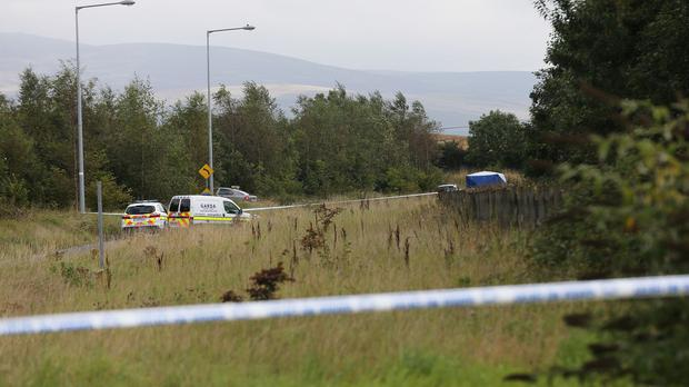 The scene near the Kilcurry area of Dundalk where the body of a man in his mid-50s was discovered