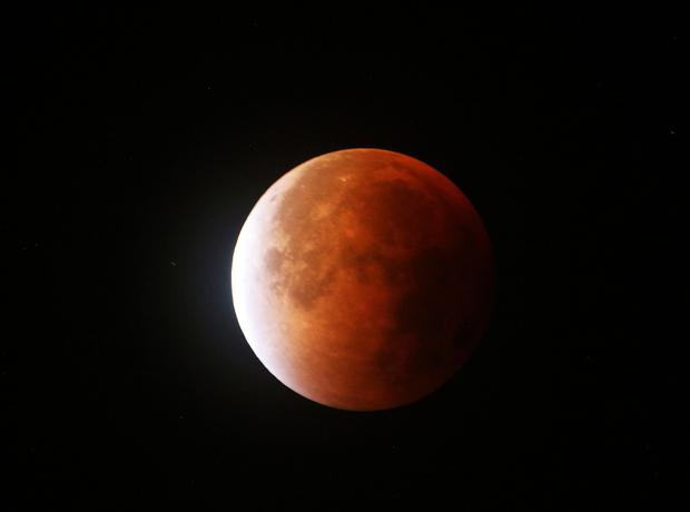 Moon eclipse photo taken in Banbridge by William Cartmill