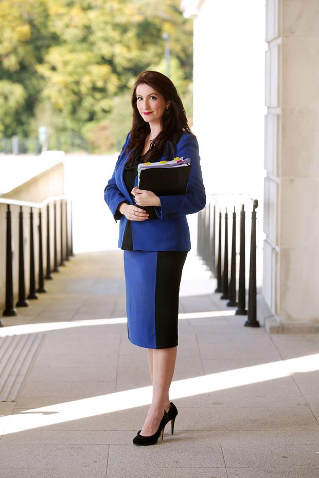 New DUP MLA for South Belfast Emma Pengelly at Stormont yesterday