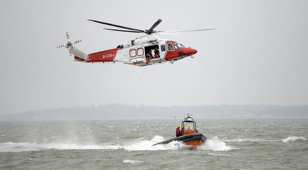 An air and sea search is being carried out off Portmuck for a missing kayaker