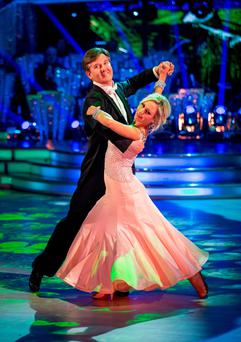 Daniel with Strictly dance partner Kristina Rihanoff last week