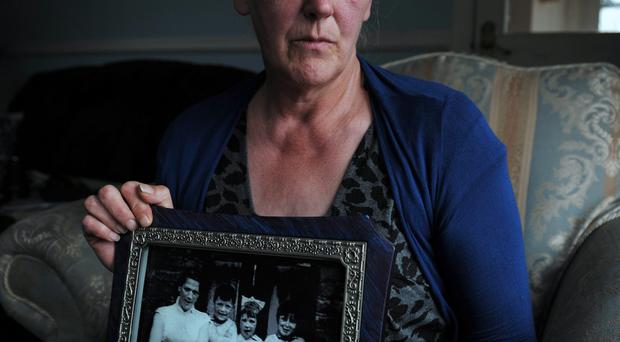 Helen McKendry with the only family photograph of her mother Jean McConville