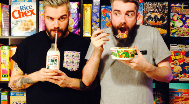 Belfast brothers Gary and Alan Keery, owners of The Cereal Killer Cafe in London