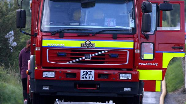 Firefighters were dealing with a fire at the Ballysillan Playing Fields