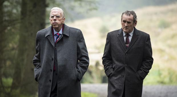 Timothy Spall as Ian Paisley and Colm Meany as Martin McGuinness in The Journey, a new film charting the unlikely friendship between them both.