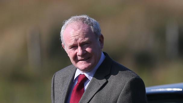 Deputy first minister Martin McGuinness said up to 100 refugees would be accommodated in Ulster