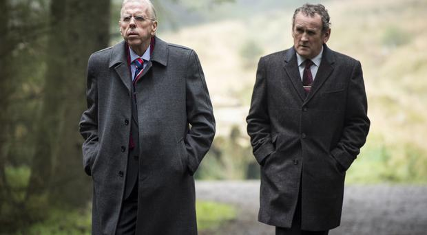 Timothy Spall (left) and Colm Meaney in their roles as Ian Paisley and Martin McGuinness