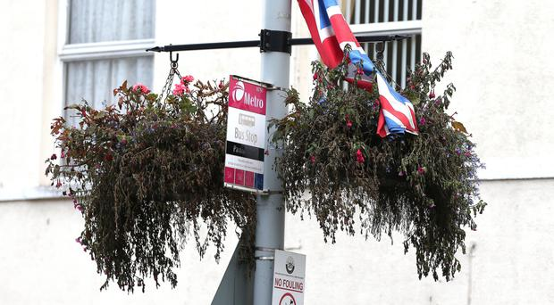 Hanging baskets in Castlereagh Street