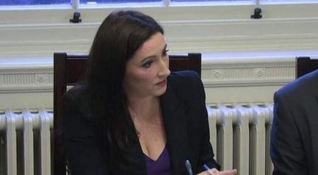 Emma Pengelly yesterday at her first meeting of Stormont's finance committee