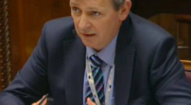 Richard Pengelly talks to Stormont's health committee yesterday
