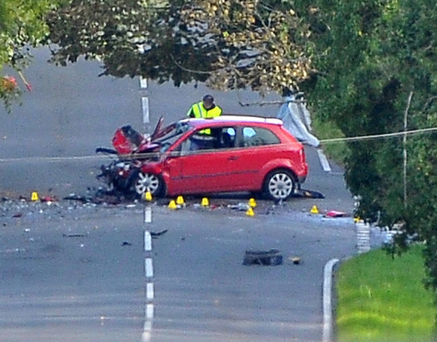 The scene of the fatal crash on the Killyleagh Road near Saintfield