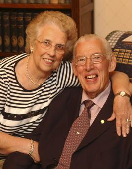 Ian Paisley pictured with his wife Eileen