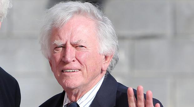 Former US senator Gary Hart is meeting with Northern Ireland Secretary Theresa Villiers at Stormont House