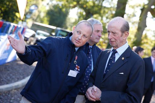 The Duke of Kent with Senior Helm Chris Cathcart
