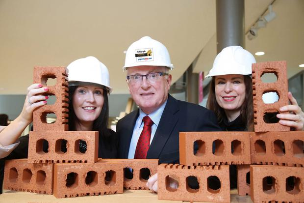 From left: Emma McNally, commercial manager Property News.com; Professor Alastair Adair, PVC (Development), provost of Ulster University and chair of the judging panel, and Gail Walker, Belfast Telegraph editor