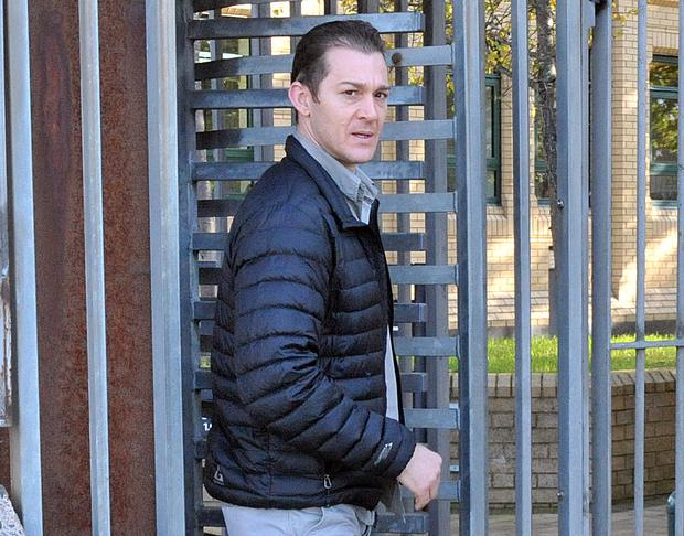 Jeremiah Thede leaves Antrim Crown Court [File photo]
