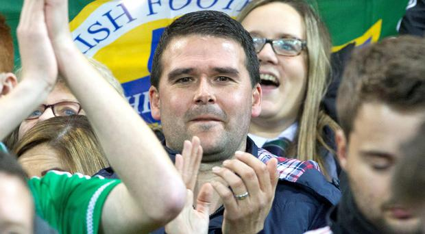 Healy at Northern Ireland's historic win over Greece last week