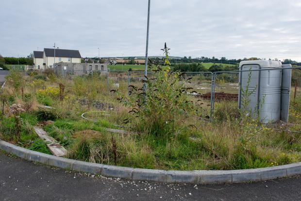 The empty plots at Victoria Meadows