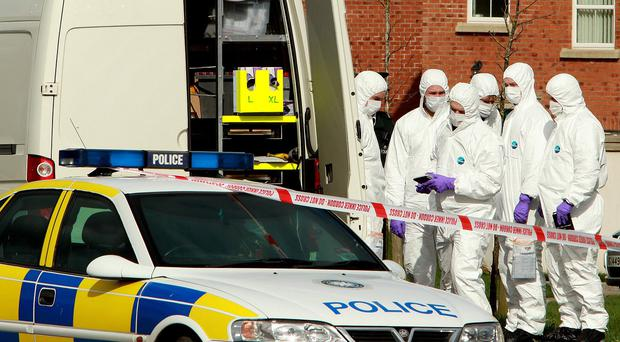 A 'viable explosive device' was found outside a property in County Armagh