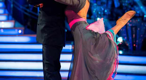 Daniel O'Donnell with dance partner Kristina Rihanoff during their final Strictly routine