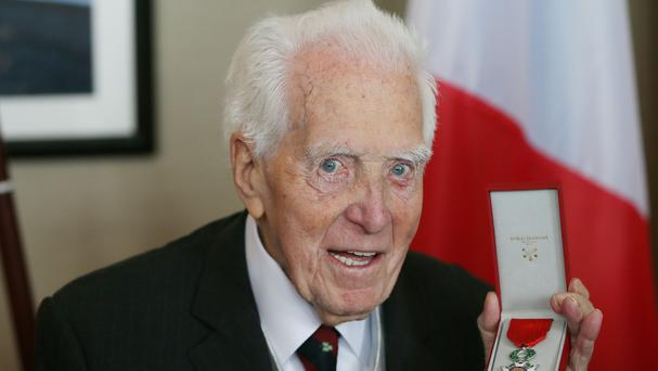 D-Day veteran Francis Denvir is bestowed with France's highest honour, the Legion d'Honneur, on his 100th birthday in Rosscarbery