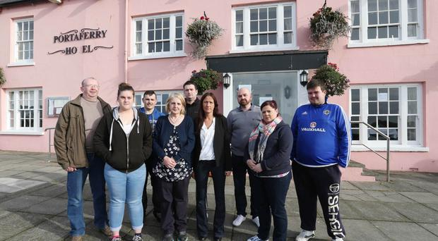 Staff members outside the Portaferry Hotel