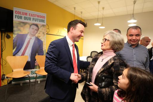 SDLP MLA Colum Eastwood at The Hive in Belfast with party stalwart Brid Rodgers