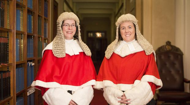 Denise McBride QC, left, and Siobhan Keegan QC, who have become the first women to be appointed as High Court judges in Northern Ireland (NI Judicial Appointments Commission/PA)