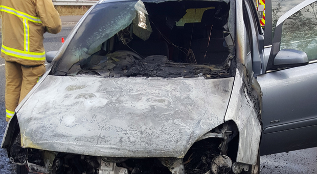 The burnt-out Vauxhall Zafira belonging to David Pickles