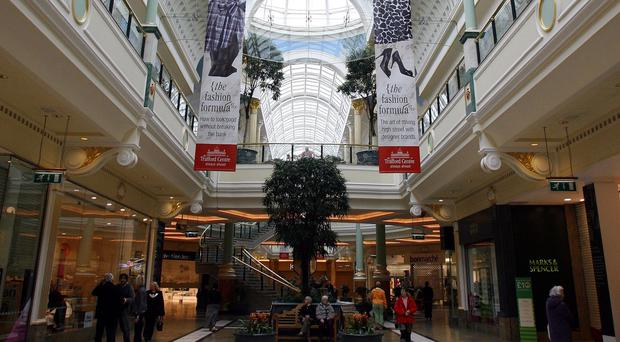 The students were visiting the Trafford Centre during their trip to Manchester