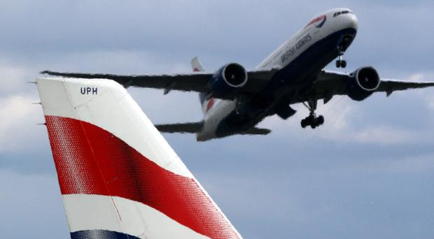 A British Airways plane landed safely after the pilot declared an emergency
