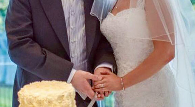 Tragic couple John and Lynette Rodgers cut their wedding cake on their big day