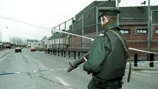 Police at the scene of the 1997 attack in Co Tyrone