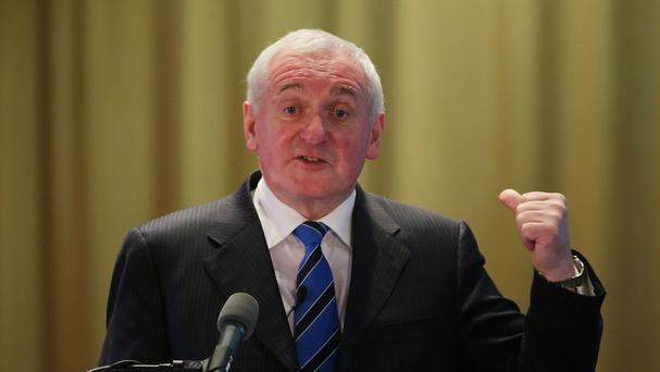 Bertie Ahern said he loved Europe less than he did in the 1970s