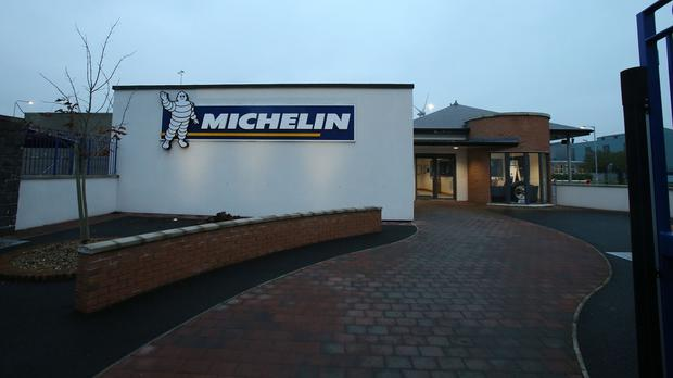 The Michelin truck tyre factory in Ballymena where staff were sent home on Tuesday