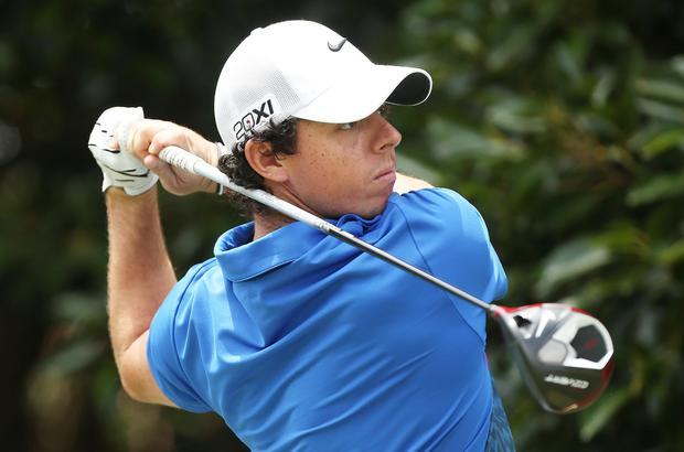 Rory in action with one of his Nike drivers