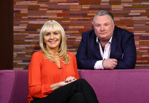 Stephen Nolan with RTE presenter Miriam O'Callaghan during Wednesday night's show