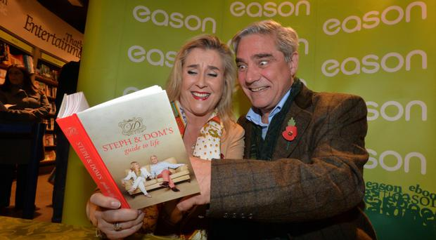 Gogglebox stars Steph and Dom visit Easons in Belfast as part of their book tour