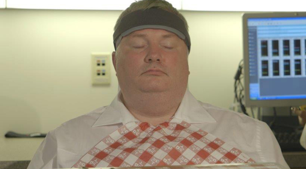Descent into food hell: Stephen Nolan in scenes from the new programme, Food on the Brain