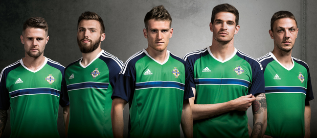 a19a951aa9c New look: players Oliver Norwood, Stuart Dallas, Steven Davis, Kyle  Lafferty and